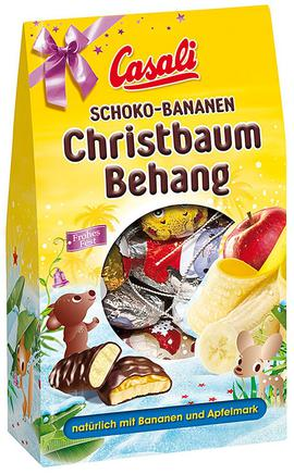 Schoko-Bananen Christbaum Behang Casali