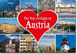 Top 10 Sights of Austria Magnet